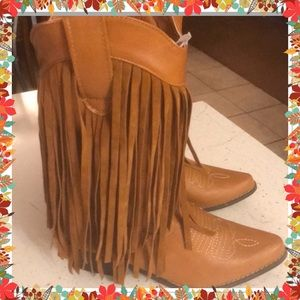 Shoes - FRINGE COWGIRL BOOTS